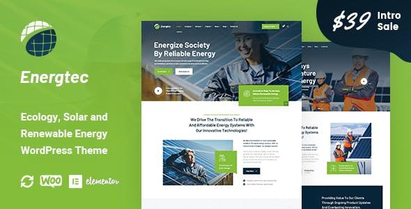 Energtec - Solar and Wind Energy WordPress Theme