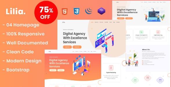 Lilia - Creative Digital Agency Template - Creative Site Templates