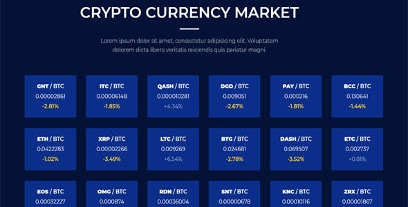 Coincap - Cryptocurrency ICO Landing Page HTML Template