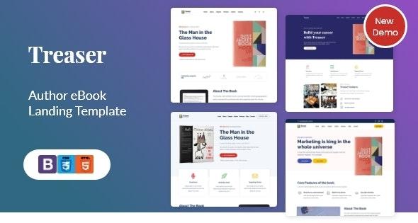 Treaser v1.6 – Author eBook landing Template + RTL