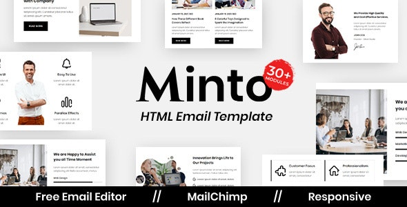Minto Agency - Multipurpose Responsive Email Template - Newsletters Email Templates