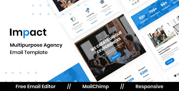 Impact Agency - Multipurpose Responsive Email Template - Newsletters Email Templates