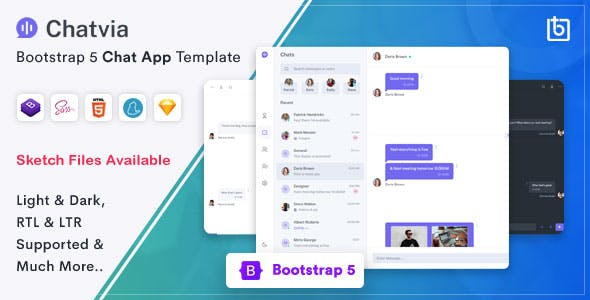 Chatvia - Bootstrap 5 Chat App Template