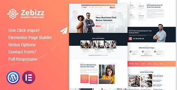 Zebizz - Business Consulting WordPress Theme - Business Corporate