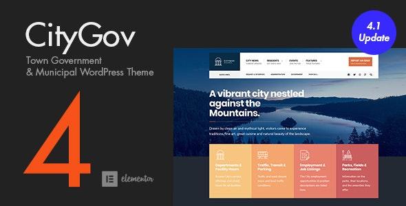CityGov - City Government & Municipal WordPress Theme - Political Nonprofit