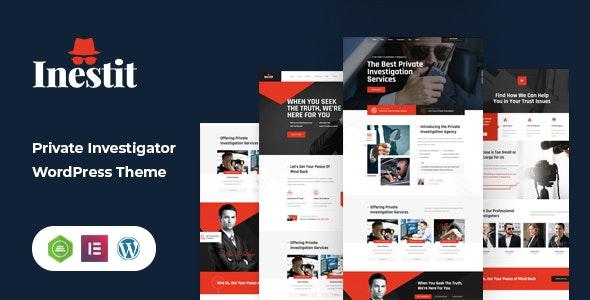 Inestit - Private Investigator WordPress Theme - Business Corporate