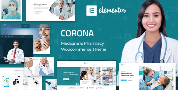 Corona | Medical Pharmacy WooCommerce WordPress Theme - WooCommerce eCommerce