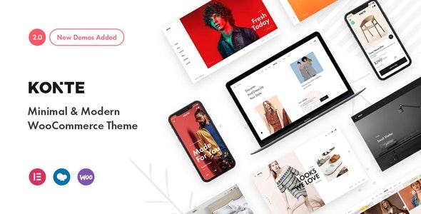 Konte v2.0.5 – Minimal & Modern WooCommerce Theme