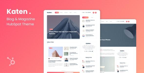 Katen - Blog & Magazine HubSpot Theme - Blog / Magazine HubSpot CMS