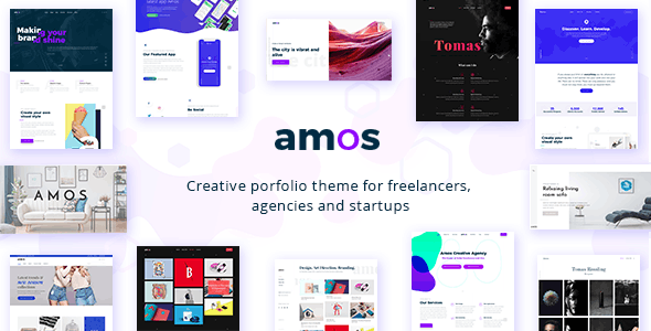 Amos v1.6.2 – Creative WordPress Theme for Agencies