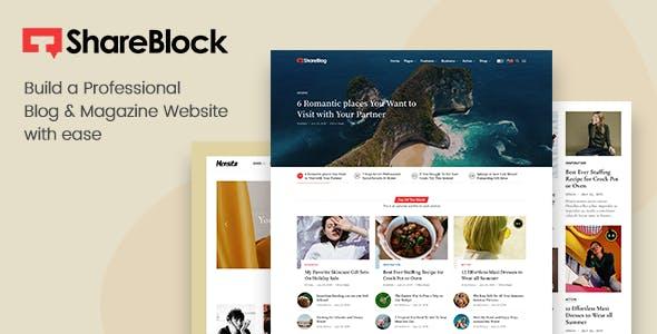 ShareBlock - Magazine & Blog WordPress Theme