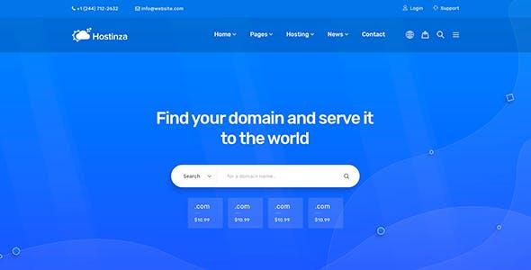 Hostinza - Whmcs Web-Hosting WordPress Theme