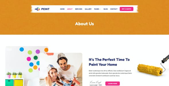 Peint – Painting Services Elementor Template Kit