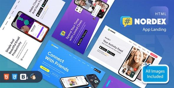 NordEx - Premium App Landing Pages Pack Template - Landing Pages Marketing
