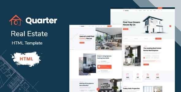 Quarter - Real Estate HTML Template With RTL - Business Corporate