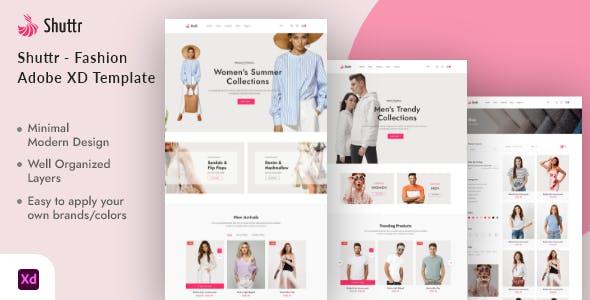 Shuttr - Fashion eCommerce Adobe XD Template