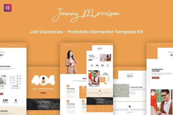 Morrison - Creative Portfolio Elementor Template Kit - Creative & Design Elementor