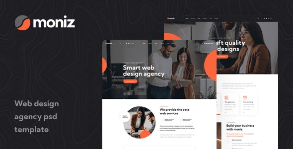 Moniz - Web Design Agency PSD Template - Creative Photoshop