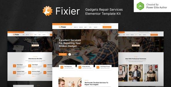 Fixier – Gadgets & Electronics Repair Services Elementor Template Kit