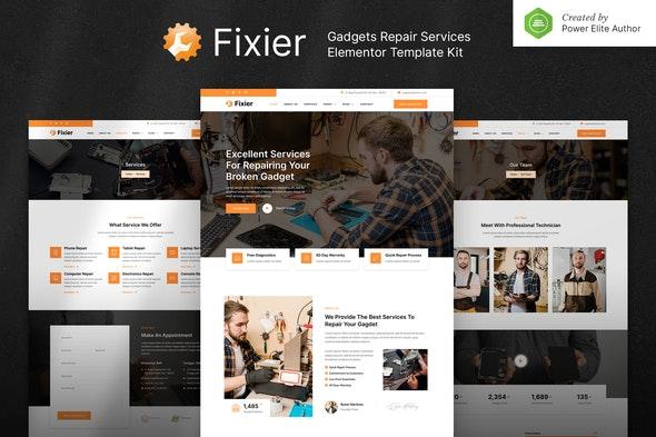 Fixier – Gadgets & Electronics Repair Services Elementor Template Kit - Business & Services Elementor