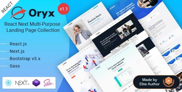 Oryx - React Next Landing Page Template