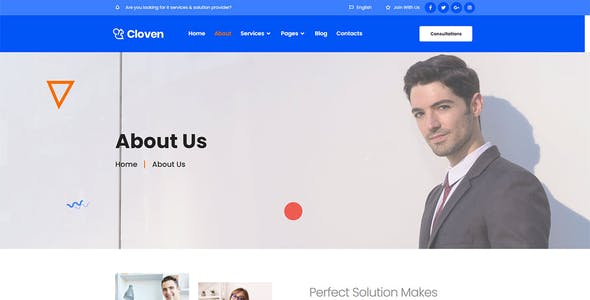 Cloven - IT Solutions &Services Company Elementor Template Kit