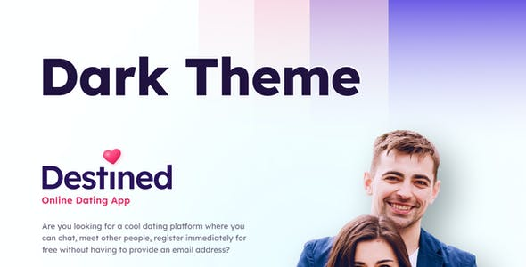 Destined | A Dating App UI Figma Template