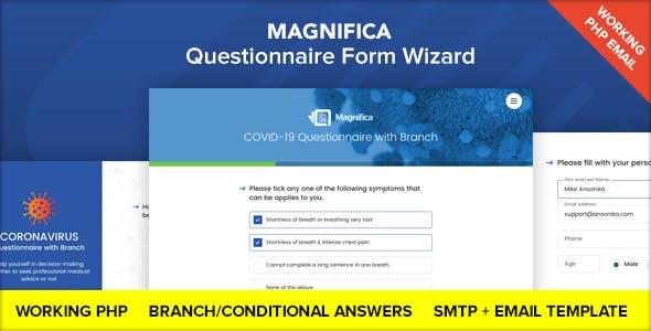 Magnifica - Coronavirus Questionnaire Form Wizard
