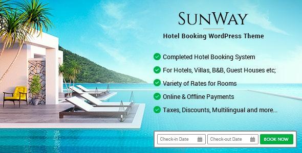 Sunway v3.8 – Hotel Booking WordPress Theme