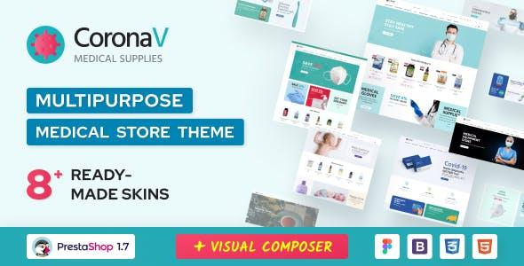 CoronaV - Multipurpose Medical Supplies PrestaShop Theme