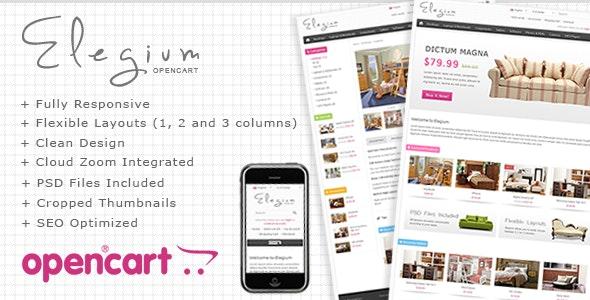 Elegium - OpenCart Premium Theme - OpenCart eCommerce