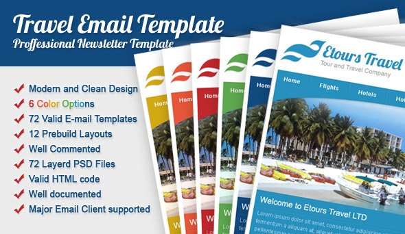 Etours Travel Email Template - Email Templates Marketing