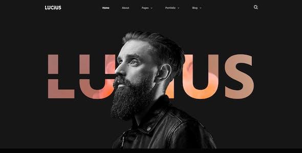 Lucius - Personal Portfolio Elementor Template Kit