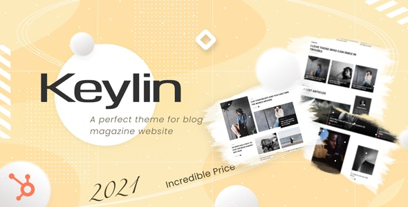 Keylin - Magazine and Blog HubSpot Theme - Blog / Magazine HubSpot CMS
