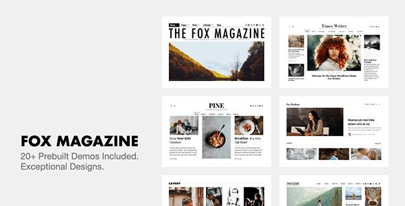 The Fox - Minimal WordPress Blog Magazine Theme - Personal Blog / Magazine
