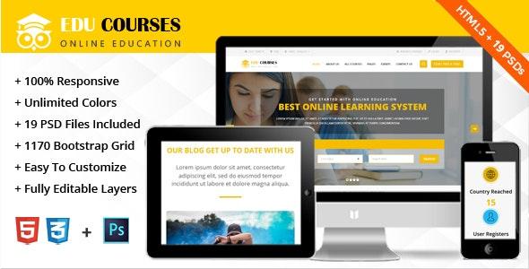 Education Online Courses Template - Miscellaneous Site Templates