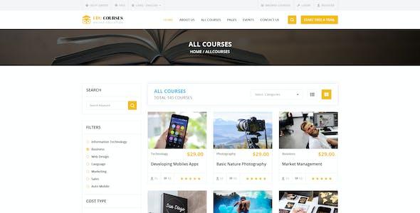 Education Online Courses Template