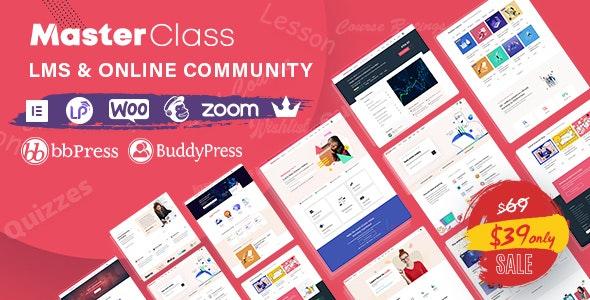 MasterClass - LMS & Education WordPress Theme - Education WordPress