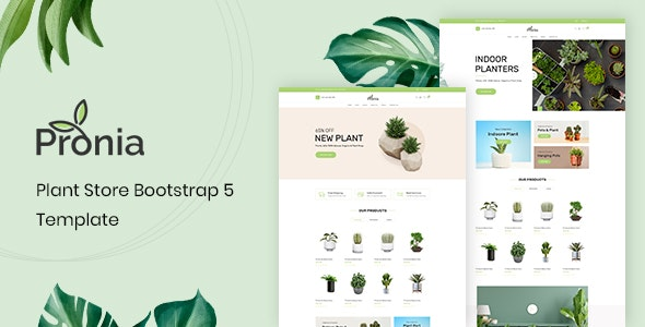 Pronia - Plant Store Bootstrap 5 Template - Shopping Retail