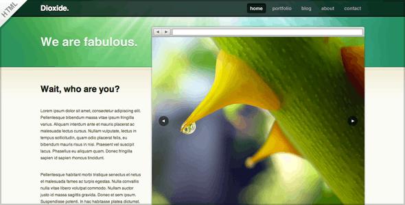 Dioxide HTML - Creative Site Templates
