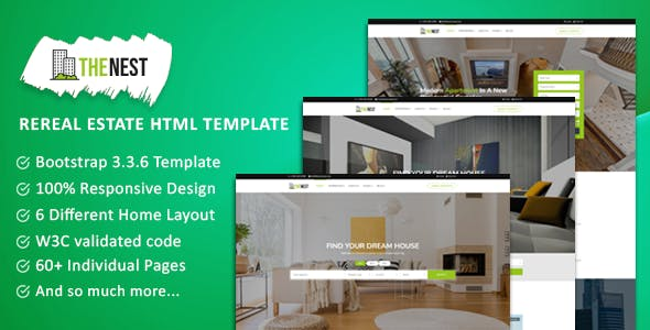 NEST - Real Estate Template