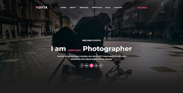 Koyta | Personal Portfolio PSD Template