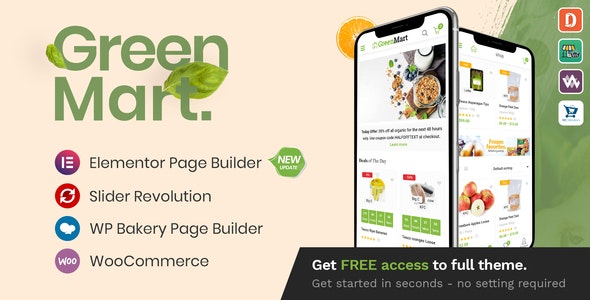 GreenMart v3.1.0 – Organic & Food WooCommerce WordPress Theme