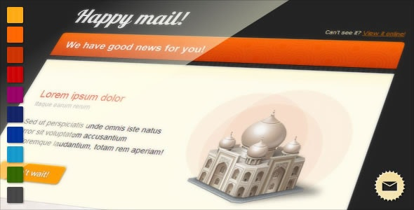 Happy Mail - Newsletter - Newsletters Email Templates
