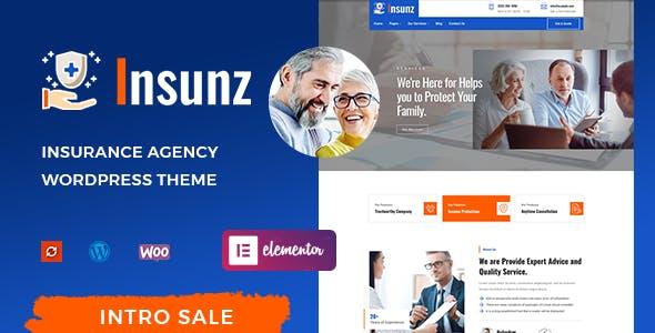 Insunz - Insurance Agency WordPress Theme