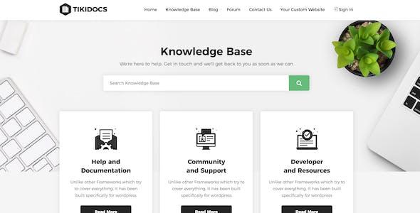 Tikidocs - Knowledgebase & Support Forum WordPress Theme + RTL