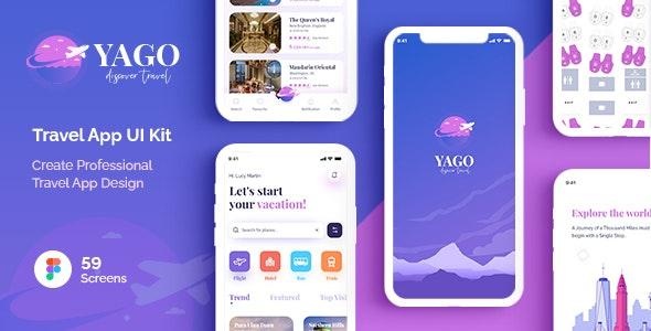 YAGO | Travel App UI Kit for Figma - Travel Retail