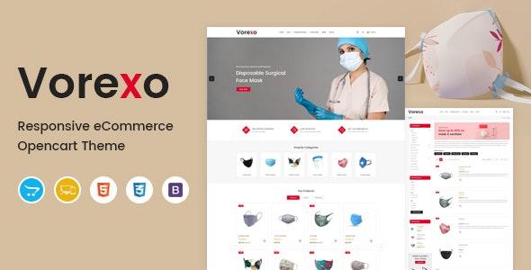 Vorexo - Mask OpenCart Theme - Health & Beauty OpenCart
