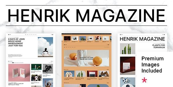 Henrik - Creative Magazine Theme - News / Editorial Blog / Magazine