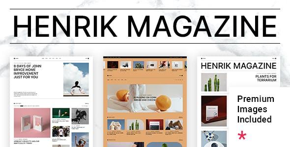 Henrik - Creative Magazine Theme